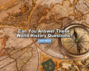 Can you answer these world history questions?