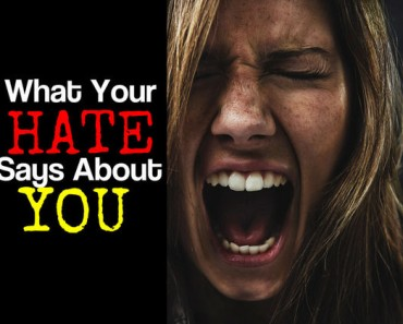 What your hate says about you