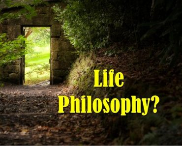 What is your life philosophy based on the words you choose?