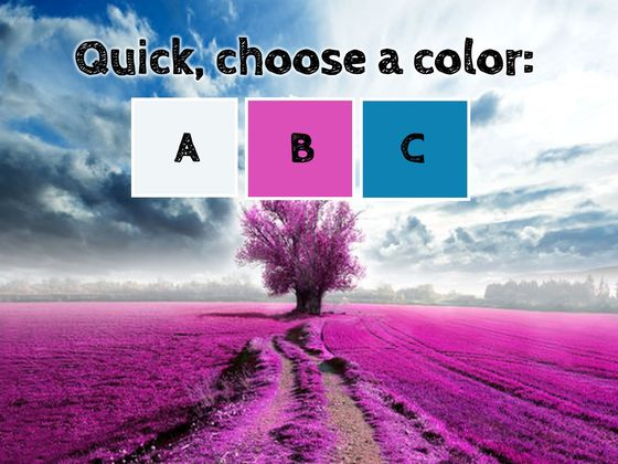 colors personality test