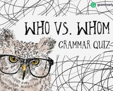 who vs whom grammar quiz