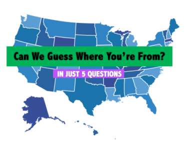 what region of the usa you're from quiz