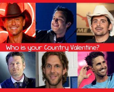 country heartthrob valentine quiz