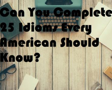 american idiom quiz