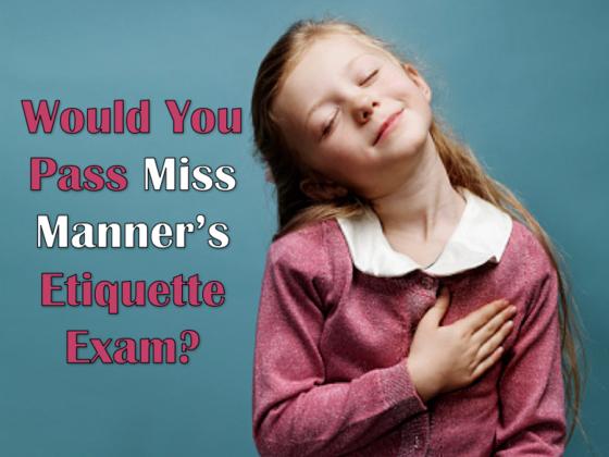Miss Manners Wedding Etiquette: Etiquette-exam • Quiz Cow