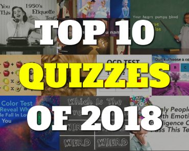 Quizcow top 10 quizzes of 2018